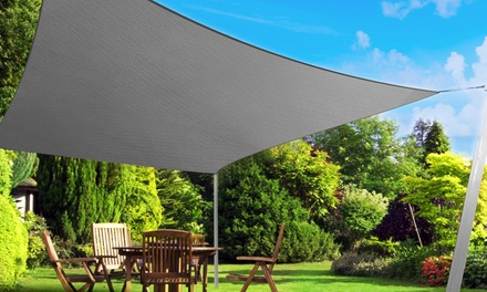 From $29 for a Heavy Duty Sun Shade Sail in a Range of Shapes, Sizes and Colours