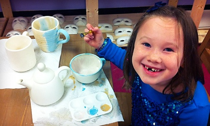 Art Smart Academy - Northwest Columbia: Walk-In Pottery Painting, or Pottery Painting Party for Eight People at Art Smart Academy (50% Off)