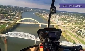 Stratus Helicopters: Scenic Helicopter Tour for Two or Three from Stratus Helicopters (Up to 42% Off). Three Options Available.