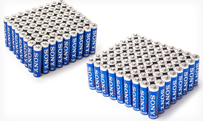 Sony Stamina Plus Batteries: 72-Pack of AA or AAA Sony Stamina Plus Batteries. Free Returns.