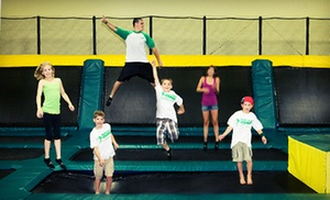 Rockin' Jump (San Jose): One Hour of Trampoline Time for Two, Four, or Six at Rockin' Jump (Up to 60% Off)
