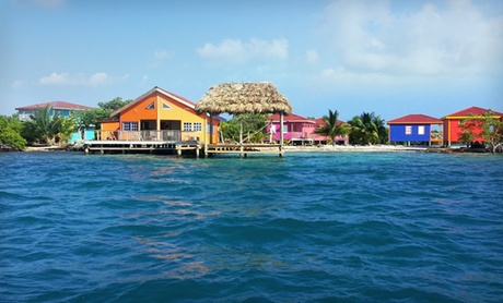 Waterfront Cabanas on Private Island in Belize