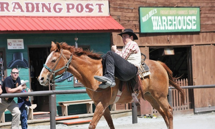 Wild West City - Bangor Central Historic District: Admission for Two or Four with Train Rides or a Season Pass at Wild West City (Up to 45% Off)