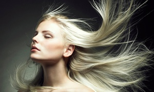 A Little Indulgence Salon and Spa: Haircut Package with Optional Color or Partial or Full Highlights at A Little Indulgence Salon and Spa (Up to 51% Off)