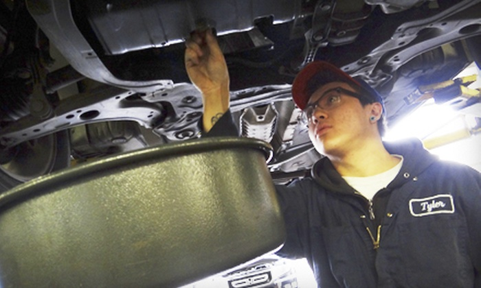 """Auto Repairs R """"Wee"""" - Vancouver: Regular or Synthetic Oil Change with Tire Rotation, Inspection, and Fluid at Auto Repairs R """"Wee"""" (Up to 64% Off)"""