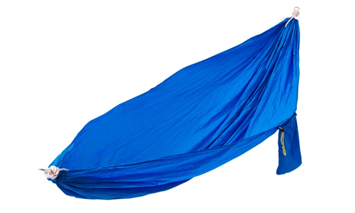2 person parachute hammock with ropes and carabiners  2 person high thread     2 person parachute hammock   groupon goods  rh   groupon
