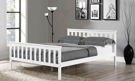 Hampton White Wooden Bed Frame