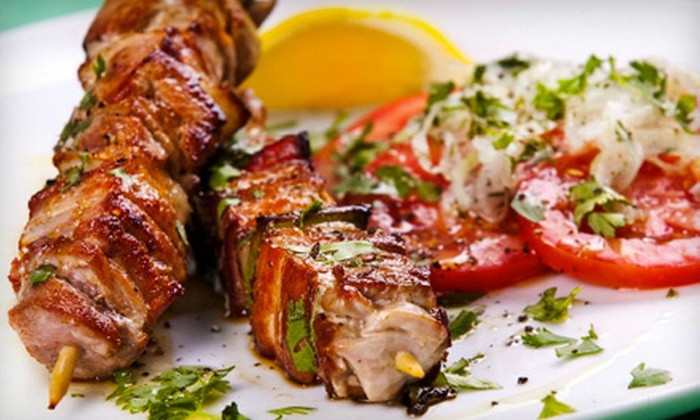 Habiba Restaurant - Greenville: Mediterranean Dinner with Appetizer and Entrees for Two, Four, or Six at Habiba Restaurant (Up to 57% Off)