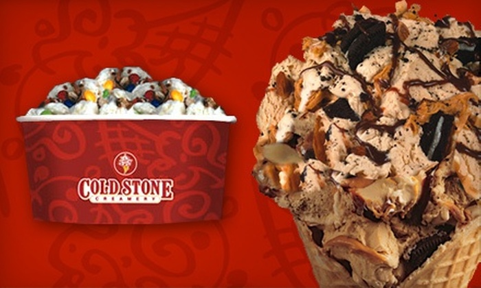 Cold Stone Creamery - Multiple Locations: Four-Pack of Ice-Cream Cookie Sandwiches or $6 for $10 Worth of Ice Cream, Sundaes, and Shakes at Cold Stone Creamery