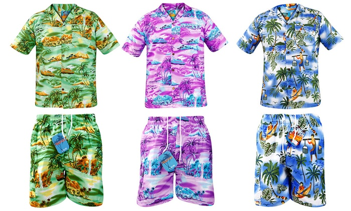 Hawaiian Shirts And Shorts Groupon