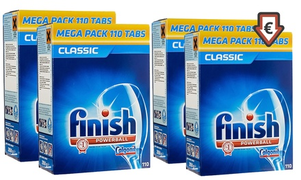 110, 220, 330 or 440 Finish Powerball Classic Dishwasher Detergent Tabs