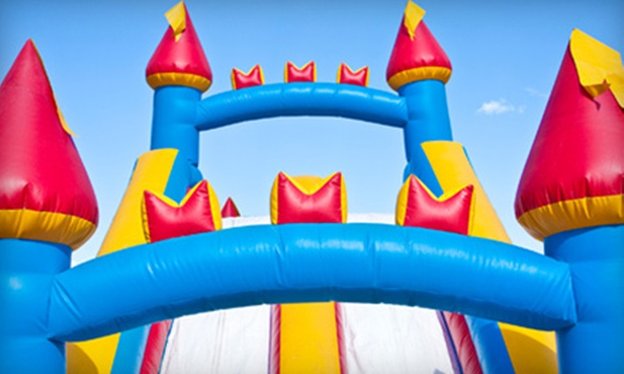 All In Fun - Sandy: 1-Day Rental of Small Bounce House or Castle with Double Slide from All In Fun (Up to 51% Off).