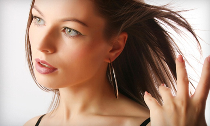 Hilson Beauty Salon - Kiln Creek: Haircut and Style, Relaxer with Silk Wrap, Highlights, or Smoothing Treatment at Hilson Beauty Salon (Up to 56% Off)