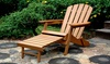 Folding Adirondack Chair with Pullout Ottoman: Folding Adirondack Chair with Pullout Ottoman