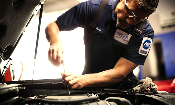 Sears Auto Center - Akron / Canton: Conventional, High-Mileage, or SynPower Synthetic Oil Change at Sears Auto Centers (Up to 43% Off)