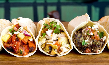 $15 for Three Groupons, Each Good for $8 Worth of Tacos at Brushfire Tacos y Tapas ($24 Value)