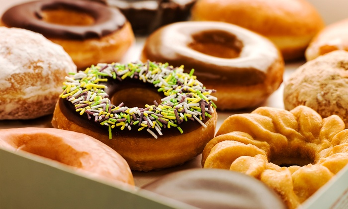Bob's Donut & Pastry Shop - Nob Hill: $12 for One Dozen Donuts and a T-Shirt, Ceramic Cup, or Mug at Bob's Donut & Pastry Shop ($22 Value)