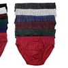 Men's Solid or Striped Print Briefs (6-Pack)