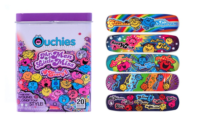 2-Pack of Ouchies Mr. Men and Little Miss Bandages: $5.99 for a Two-Pack of Ouchies Mr. Men and Little Miss Bandages ($11.99 List Price)