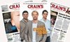 """65% Off """"Crain's Chicago Business"""" Subscription"""