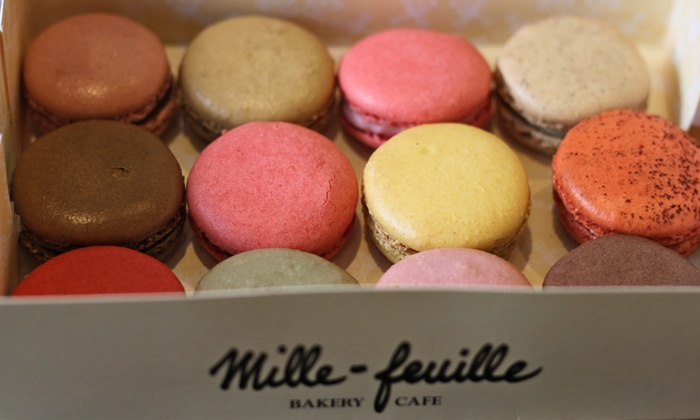 Mille-Feuille - Multiple Locations: 12 or 40 Gourmet Macarons at Mille-Feuille (Up to 42% Off)