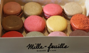 Mille-feuille Bakery Cafe: 12 or 40 Gourmet Macarons at Mille-Feuille (Up to 36% Off)