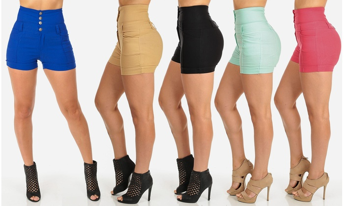 Women's High-Waisted Shorts | Groupon Goods