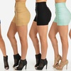 Women's High-Waisted Four-Button Stretch Shorts