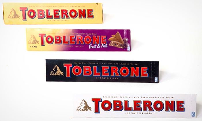 Toblerone Choice Of 400g Bars From 499 With Free Delivery