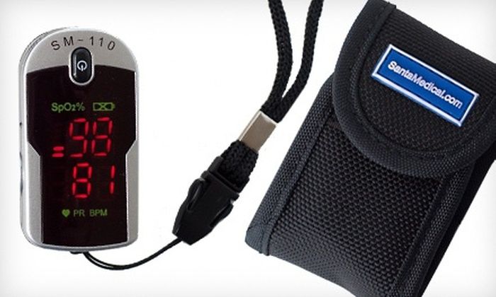 Fingertip Pulse Rate Oximeter: Fingertip Pulse Rate Oximeter with Case and Neck/Wrist Cord. Free Returns.