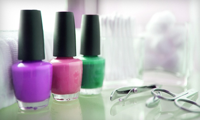Charissa's Nails & Beauty Lounge - Lake View Terrace: One Gel Manicure with Basic Pedicure or Two Deluxe Mani-Pedis at Charissa's Nails & Beauty Lounge (Up to 51% Off)