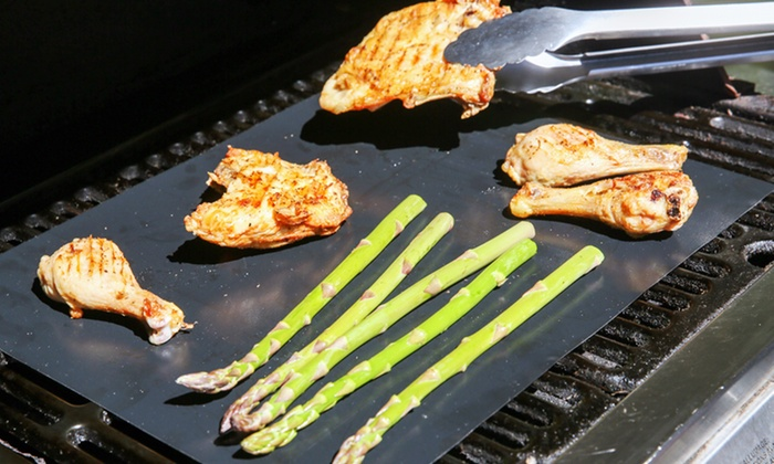 2 Nonstick Grill Mats Groupon Goods
