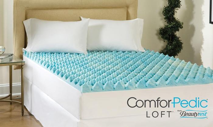 beautyrest memory foam topper groupon goods. Black Bedroom Furniture Sets. Home Design Ideas