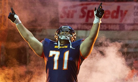 Two Spokane Shock Football Game Tickets and Two T-Shirts on Saturday, March 15 at Spokane Arena (Up to 58% Off)