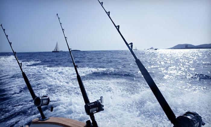 No Slack! Sportfishing - South Portland: Five- or Eight-Hour Striped-Bass-Fishing Trip from No Slack! Sportfishing (Up to 43% Off)