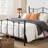 Wendy Antique Dark Bronze Queen Size Platform Bed
