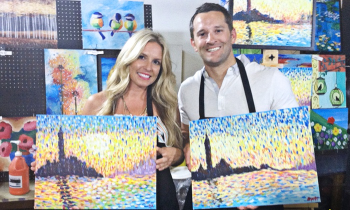 Art Experience - Crossroads: $76 for a BYOB Tuesday Night Painting Class for Two from Art Experience at the MOD Gallery ($110 Value)