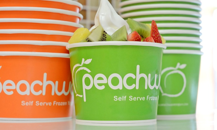 Peachwave - The Bridges at 57th: $6 for Six Groupons, Each Good for $2 Worth of Frozen Yogurt at Peachwave Yogurt ($12 Value)