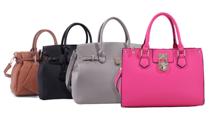 Lock it in! Chic Lock Satchels with Detachable Straps