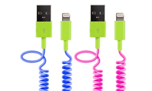 Delton Apple-certified 3ft Coiled Lightning Sync & Charge Cable