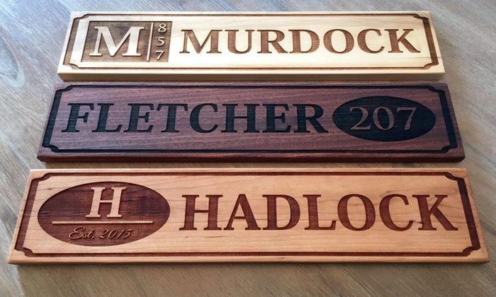 Personalized House Signs Groupon Goods