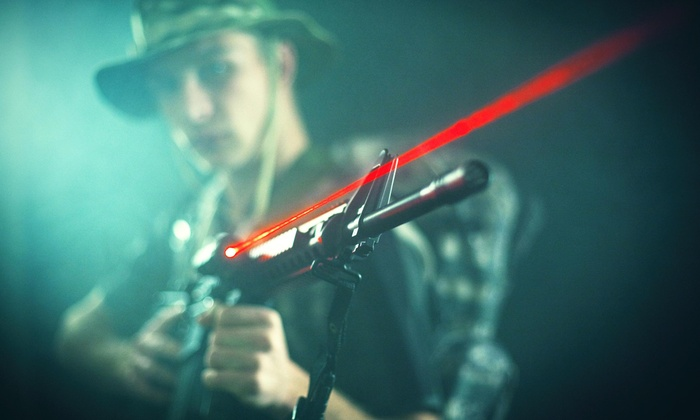 Island Time - Seattle Hill-Silver Firs: Two Games of Laser Tag at Island Time (42% Off)