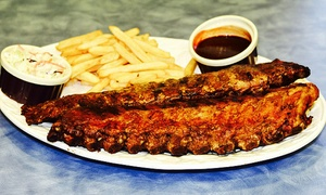 Kenny's Ribs & Chicken: Rib Meals at Kenny's Ribs & Chicken (Up to 42% Off). Three Options Available.