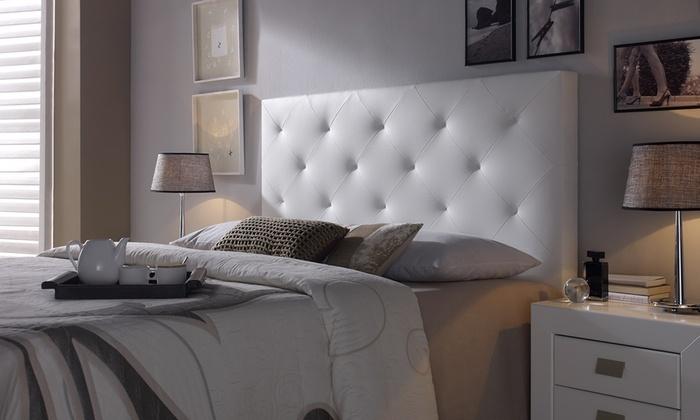 groupon goods global gmbh cabecero de cama tapizado modelo rombo o carla desde