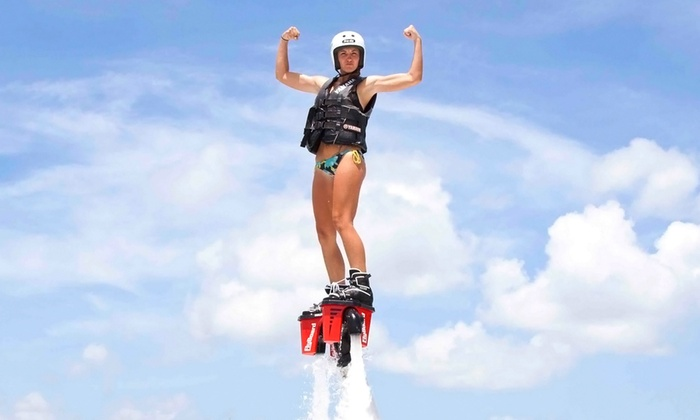 Redbullzzz Miami Flyboarding - Star, Palm and Hibiscus Islands: 40-Minute Flyboarding Lesson for One or Two at Redbullzzz Miami Flyboarding (Up to 43% Off)