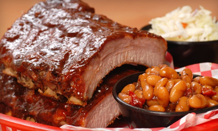 World Bar-B-Que - Harrison: Barbecue Dinners for Two, Four, or Six with Sides, Soft Drinks, and Desserts at World Bar-B-Que (Up to 54% Off)