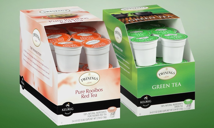 48-Count Pack of Twinings Green Tea or Rooibos K-Cups: 48-Count Pack of Twinings Green Tea or Rooibos K-Cups