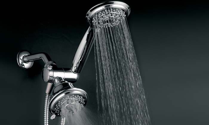 HotelSpa Ultra-Luxury Spiral 30-Setting 3-Way Twin Shower Head: HotelSpa Ultra-Luxury Spiral 30-Setting 3-Way Twin Shower Head. Free Returns.