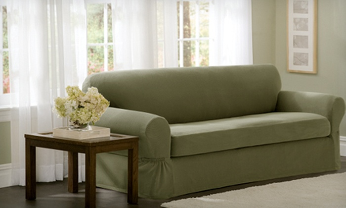 Maytex One- or Two-Piece Sofa Slipcovers (Up to 52% Off). Five Colors  Available.