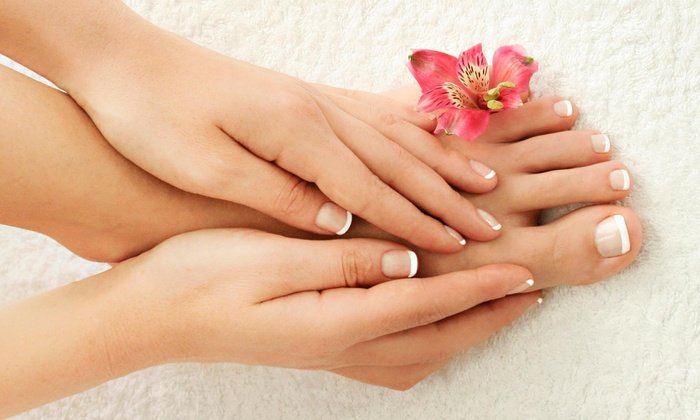 Half Moon Manicures - Junction City: A Spa Manicure and Pedicure from Half Moon Manicures (50% Off)